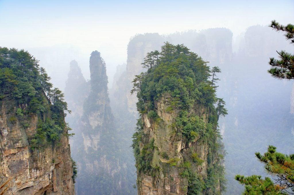 Avatar Mountain in Yuanjiajie Scenic Area
