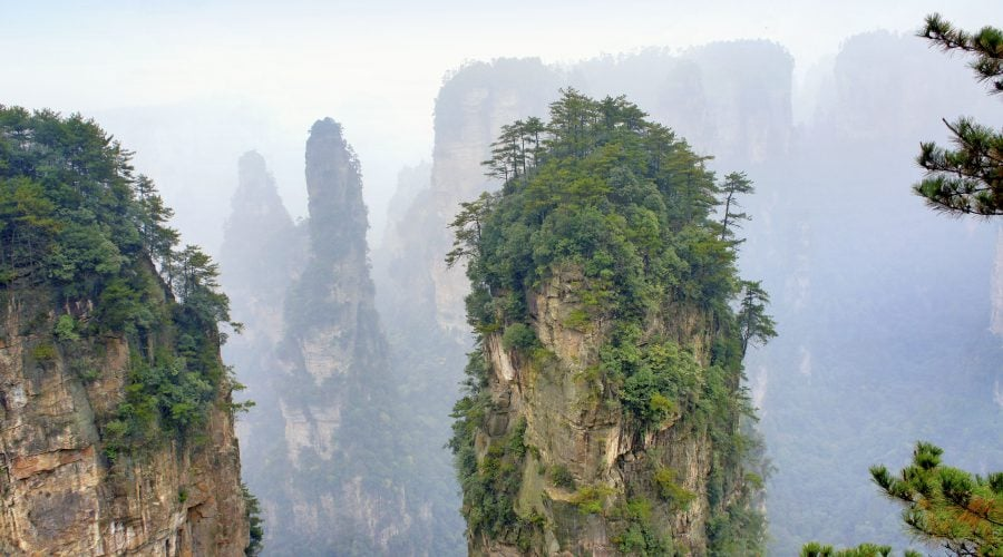 Avatar Mountain in Yuanjiajie Scenic Area